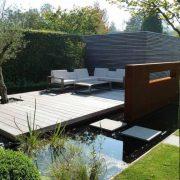 zwemvijver met terras aanleggen